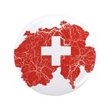 "Switzerland Flag And Map 3.5"" Button"