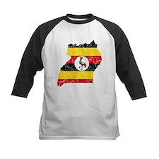 Uganda Flag And Map Tee