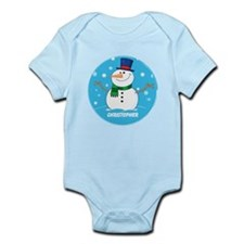 Cute Personalized Snowman Xmas gift Infant Bodysui