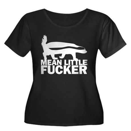 mean little fucker Women's Plus Size Scoop Neck Da