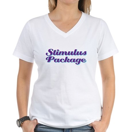 stimulus package Women's V-Neck T-Shirt