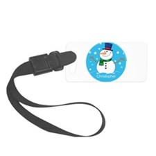 Cute Personalized Snowman Xmas gift Luggage Tag