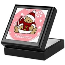 Cute Personalized Teddy Bear Xmas gift Keepsake Bo