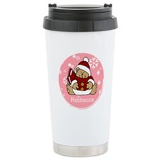 Cute Personalized Teddy Bear Xmas gift Travel Mug