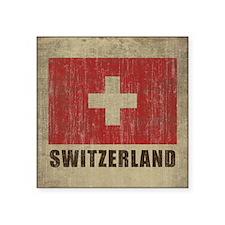 """Vintage Switzerland Square Sticker 3"""" x 3"""""""