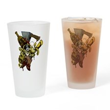 8 Ball Zombie Drinking Glass