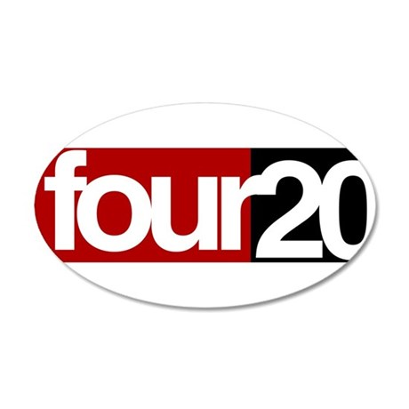 four20 20x12 Oval Wall Decal