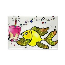 Birthday fish, Fish With Cake and Candle Rectangle