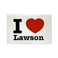I Love Lawson Rectangle Magnet