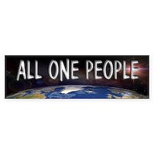 One People Bumper Bumper Sticker