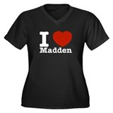 I Love Madden Women's Plus Size V-Neck Dark T-Shir