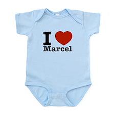 I Love Marcel Infant Bodysuit