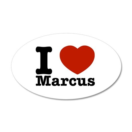 I Love Marcus 20x12 Oval Wall Decal