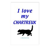 Chartreux Cats Postcards (Package of 8)