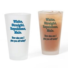 White Straight Republican Male Drinking Glass