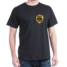 Panama Immigration Black T-Shirt