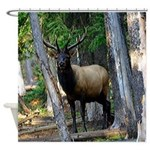 Elk in forest Shower Curtain