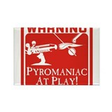 Pyromaniac At Play Rectangle Magnet