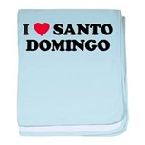 I Love Santo Domingo baby blanket