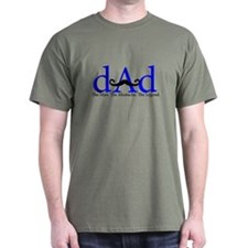 Blue Dad Curly Mustache T-Shirt