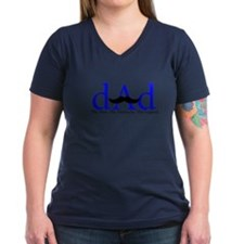 Blue Dad Mustache Shirt