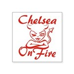 Chelsea On Fire Square Sticker 3