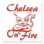 Chelsea On Fire Square Car Magnet 3