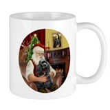 Santa &amp; His Black Cocker Spaniel Mug