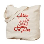 Chloe On Fire Tote Bag