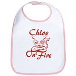 Chloe On Fire Bib