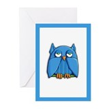 Aqua Owl Greeting Cards (Pk of 10)