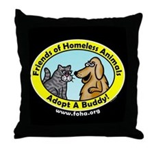 FOHA Adopt A Buddy Throw Pillow
