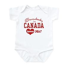 Somebody in Canada Loves Me Infant Creeper