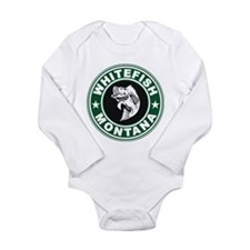 Whitefish Green Circle Long Sleeve Infant Bodysuit