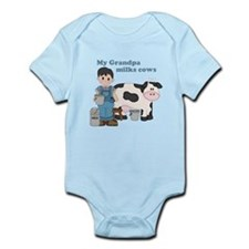 My Grandpa Milks Cows Infant Bodysuit