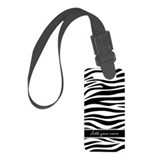 zebra stripes with name Luggage Tag