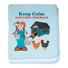 Keep Calm and Raise Chickens baby blanket