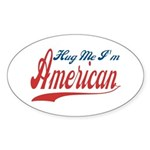 Hug Me Oval Sticker