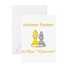 Personalized Queen Shirt Greeting Card