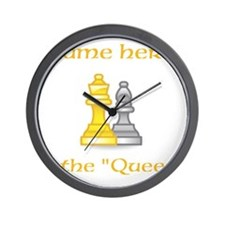 Personalized Queen Shirt Wall Clock