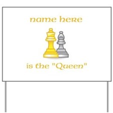 Personalized Queen Shirt Yard Sign