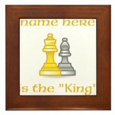 Personlized King Shirt Framed Tile