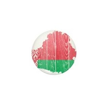 Belarus Flag And Map Mini Button (10 pack)