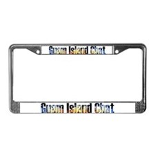 Guam Island Chat License Plate Frame