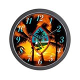 Guam Island Chat Wall Clock