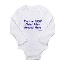 Cute Aviator Long Sleeve Infant Bodysuit
