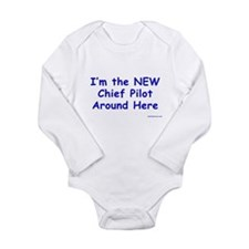 Cool Aviator Long Sleeve Infant Bodysuit