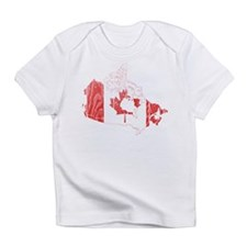 Canada Flag And Map Infant T-Shirt
