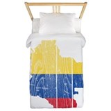 Colombia Flag And Map Twin Duvet