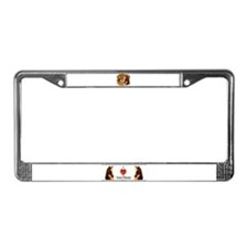 horse sepia picture License Plate Frame